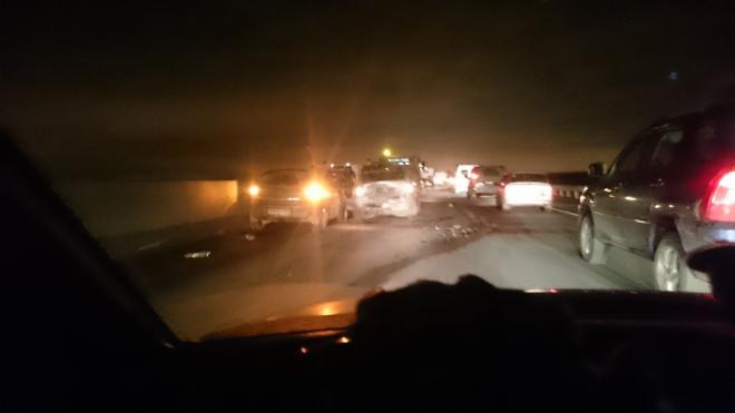 Очевидцы сообщают о крупной пробке на Московском шоссе