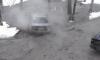 В Василеостровском районе из-за прорыва трубы под землю ушел автомобиль