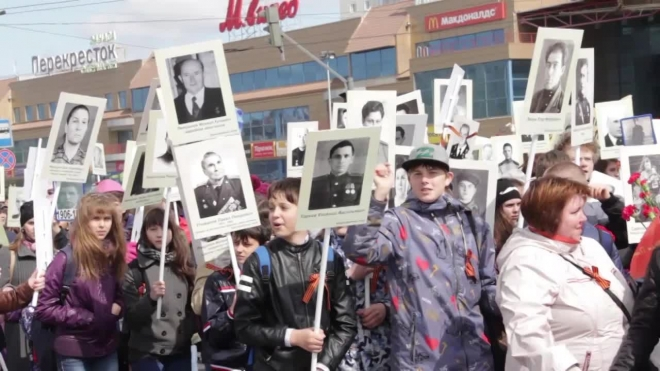"""Около 300 тысяч участников """"Бессмертного полка"""" пройдут по Невскому в День Победы"""