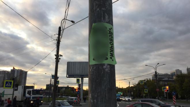 """Активисты: """"Городские власти не хотят бороться с незаконной рекламой в Петербурге"""""""