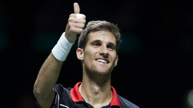 Первым финалистом теннисного турнира стал Мартин Клижан