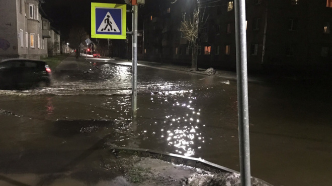 В Кировске несколько улиц оказались под водой