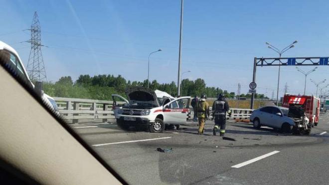 В ДТП на КАД пострадали три человека