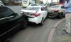 На въезде на Ново-Петергофский мост столкнулись несколько автомобилей