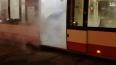 На Севере Петербурга загорелся трамвай