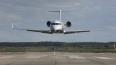 Авиалайнер Bombardier SPG–200 c отказавшим двигателем ...