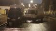 Ночной шторм в Петербурге столкнул фургоны без водителей