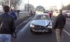 Железная балка едва не убила водителя машины в массовом ДТП на Софийской