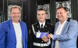 В Петербурге наградили кадетов-футболистов