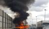 В Петербурге на КАДе сгорел автомобиль