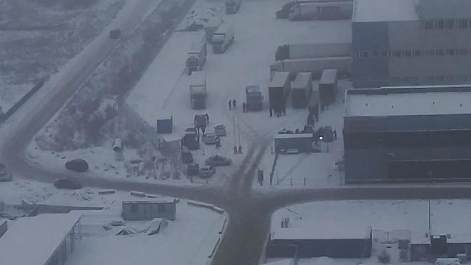 Рыбный склад в Шушарах окружили бойцы Росгвардии и полиция