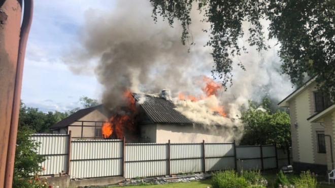 Пожар в частном доме Выборгского района унёс жизнь одному человеку