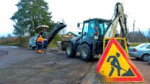 В Выборге продолжается ямочный ремонт дорог