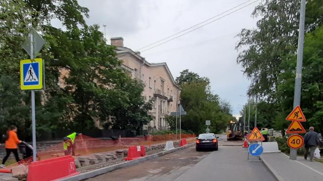 Капремонт Ярославского проспекта в Выборгском районе Петербурга обошелся в 150 миллионов рублей за километр