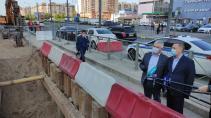 Ускорены работы по замене водопроводной сети на углу Ленинского и Маршала Жукова
