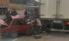 """Уснувший водитель смял """"Жигули"""" об грузовик на """"Скандинавии"""" и отделался травмами"""
