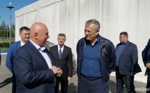 Александр Дрозденко осмотрел производство по переработке рыбы в Ломоносовском районе