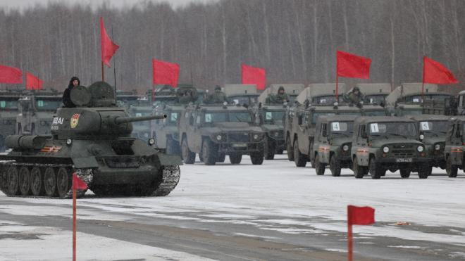 В Петербурге прошла первая тренировка парада Победы