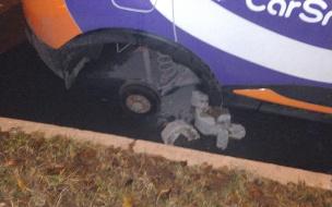 Ночью на Гранитной улице каршеринг лишился колес