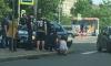 На проспекте Металлистов Renault Logan вылетел на тротуар и сбил пенсионерку