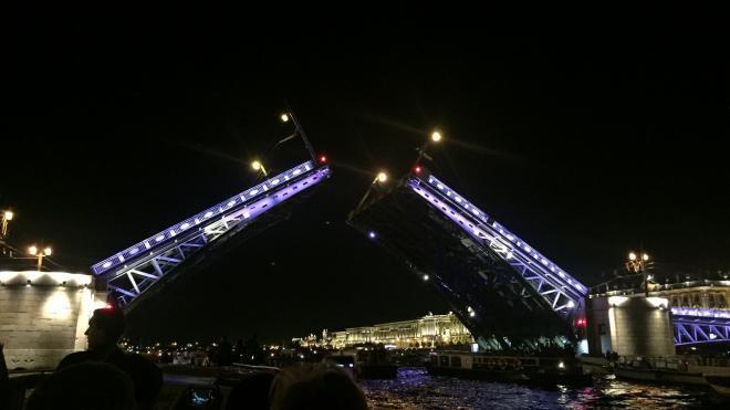 В ночь на воскресенье в Петербурге отменили разводку мостов