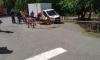 В Солнечном под колесами фургона провалился асфальт