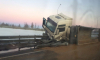 """На трассе """"Сортавала"""" из перевернувшегося грузовика высыпалось 45 тонн песка"""
