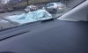 На 1-м Муринском водитель фуры-стекловоза выронил и разбил вдребезги свой груз