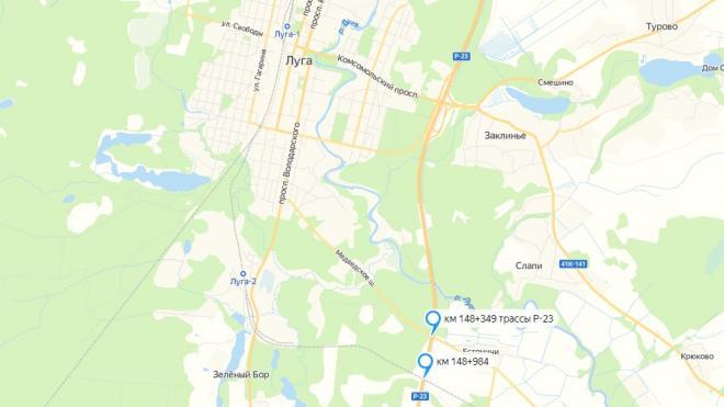 На двух путепроводах Р-23 в Лужском районе Ленобласти вводится реверсивное движение