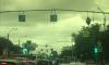 В Кировском районе из-за ветра попадали дорожные знаки