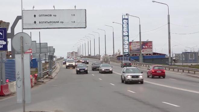Между Парашютной улицей и Выборгским шоссе на месяц перекроют внутреннее кольцо КАД