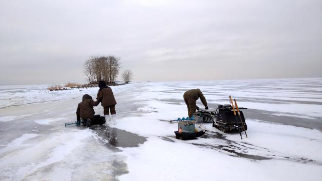 С начала года в Петербурге оштрафовали восемь рыбаков за выход на лед
