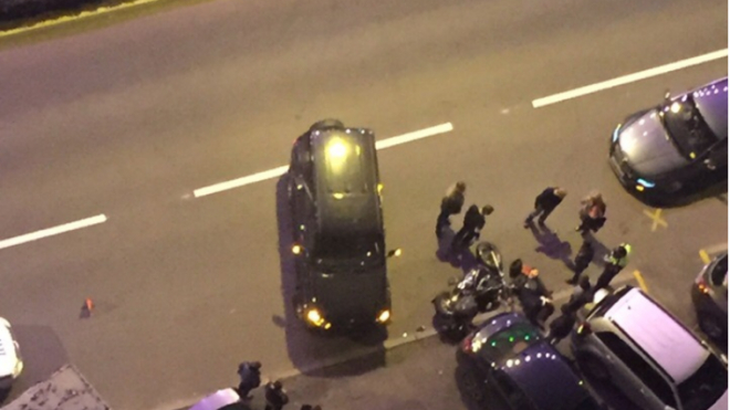 Внедорожник сбил мотоциклиста в Выборгском районе