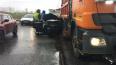 На Витебском проспекте произошло ДТП с участием поливаль ...