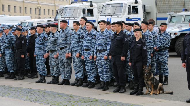 Фоторепортаж: более 500 бойцов Росгвардии приняли участие в смотре на Дворцовой площади