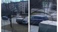 На Бестужевской улице прорыв трубы стал красивым фонтано...
