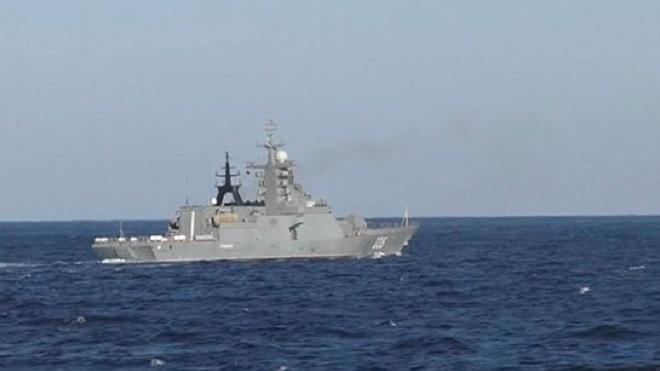 Российские корабли провели учения в Японском море
