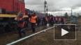 Появилось видео с места железнодорожной аварии в Пензенс...