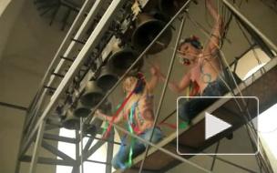 Femen провели акцию на колокольне Софийского собора в Киеве