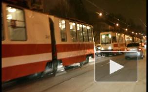 Трамвайный коллапс на Энгельса