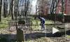 В Выборге прошел субботник на Южном кладбище