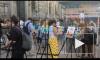 Петербуржцы в центре города нарисовали портреты футболистов