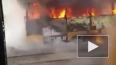 В Красноярске загорелся трамвай с пассажирами