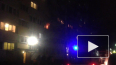 Появилось видео пожара на улице Есенина в Петербурге