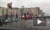 """У станции метро """"Дунайская"""" трамвай сошёл с рельсов"""