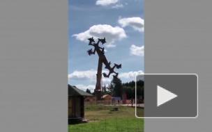 В немецком городе Лёффинген  закрыли аттракцион из-за его сходства со свастикой (видео)