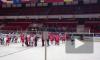 Фанаты Спартака попытались подраться с хоккеистами