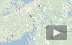 Пробки на границе с Финляндией. Брусничное и Торфяновка встали