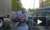 На улице Новоселов произошло лобовое столкновение двух легковушек