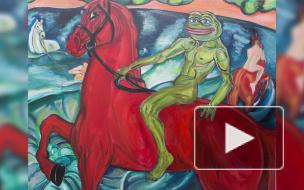 Мемная живопись: как художница из Петербурга рисует шедевры Ван Гога и да Винчи с лягушонком Пепе